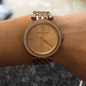 mk ROSE GOLD WATCH!